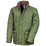 Result Mens Cheltenham Gold Fleece Lined Jacket (Water Repellent & Windproof) (L) (Olive)