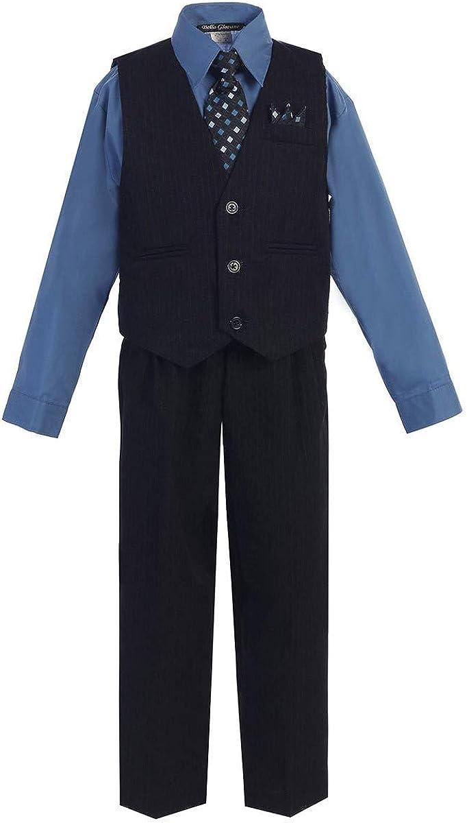 iGirlDress Little Boys' and Big Boys' Special Occasion Pinstripe Vest Set Infant-20