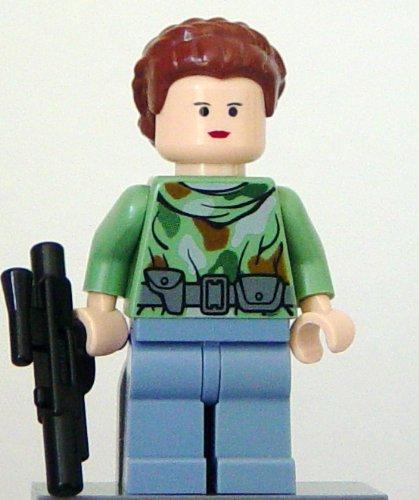 LEGO Star Wars Minifigur - Die Rückkehr der Jedi-Ritter - Prinzessin Leia mit Waffe (Endor)