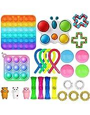 Nokiwiqis Fidget Toy Packs, Set di Giocattoli Sensoriali Economici Fidget Pack con Simple Dimple Pop Bubble Infinite Cube Sfera Antistress e Antistress Giocattolo Antistress