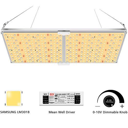 SYLSTAR LED Pflanzenlampe Vollspektrum, GL-2000 LED Pflanzenlampen mit Samsung LM301B & Dimmbar MeanWell Treiber, 220w LED Grow Light led-pflanzenlampe für Hydroponische Zimmerpflanzen, Gemüse, Blume