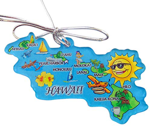 Westmon Works Hawaii Christmas Ornament Retro State Map Decoration Hawaiian Islands Gift Boxed Made in The USA
