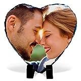 Marco de Fotos Corazon Personalizado. Regalos Personalizados con Foto. Soporte de Fotos. Varios Tamaños y Formas. Fotopiedra Corazón 15x15cm