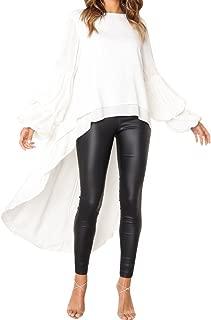 Blouse for Women, Autumn Irregular Ruffles Shirt Long Lantern Sleeve Long Tops Shirt