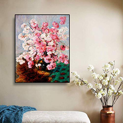 LPaWD Canvas olieverfschilderij Nordic Retro posters en prints aquarel bloem Wall Art Abstract Home schilderij wanddecoratie A1 50x70cm