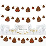 Big Dot of Happiness Party 'Til You're Pooped - Poop Emoji Party DIY Decorations - Clothespin...