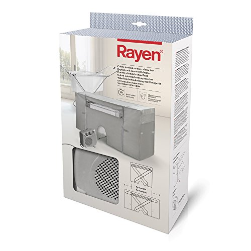 Rayen | Coperchio stendibiancheria con riscaldamento | Copertura per stendibiancheria | Stendibiancheria ad asciugatura rapida (1 ora) | Estensibile | 105-180 x 56 x 106 cm | 2 unità