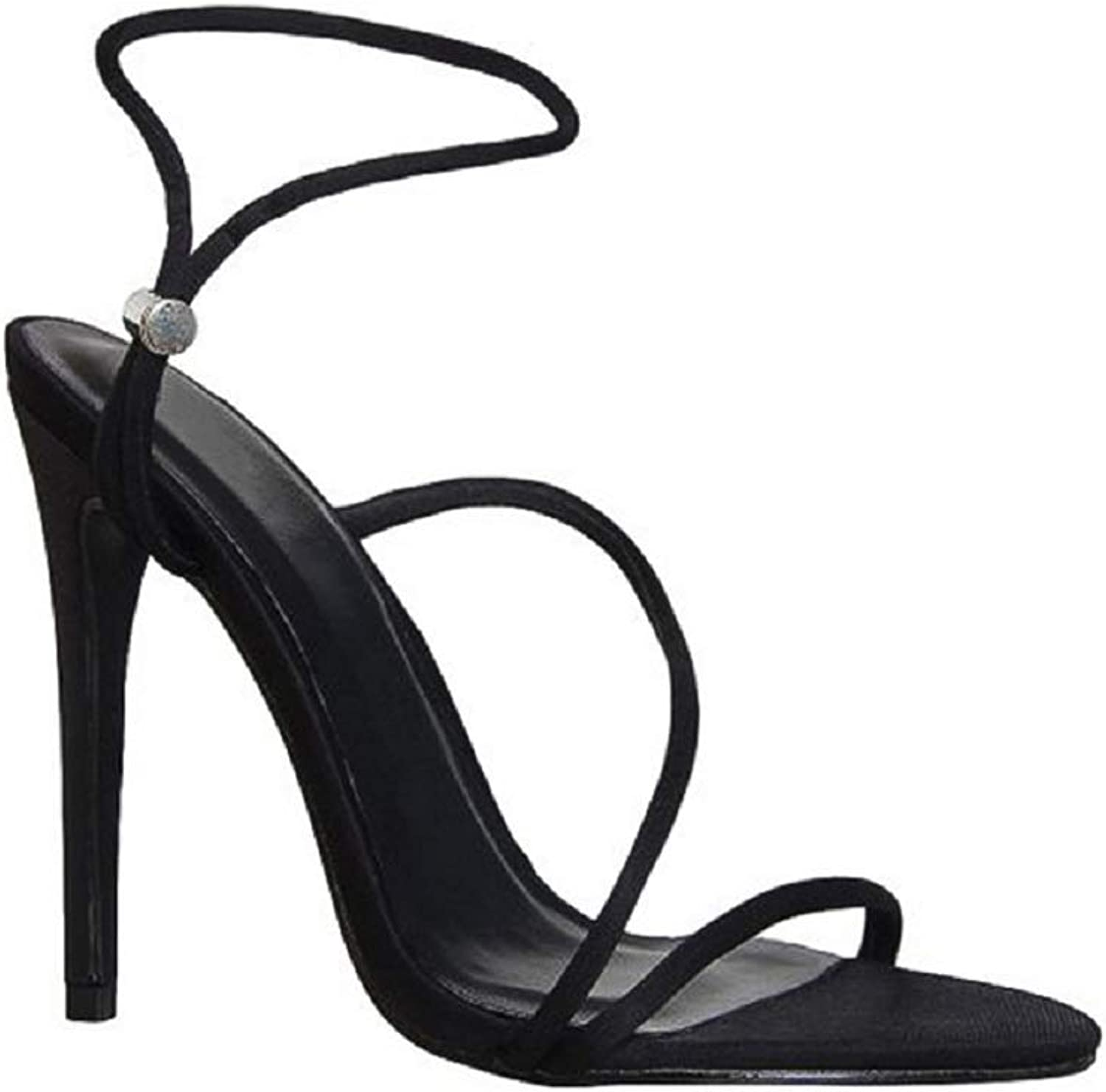 Perixir 2019 Summer New Ankle Strap Cross-Tied Women Sandals 11.5cm High Heels Sexy Grain Lace-Up Sandals shoes