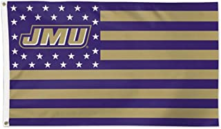 WinCraft James Madison JMU Dukes NCAA Deluxe Flag, Patriotic Stars and Stripes Edition, 3 x 5 Foot