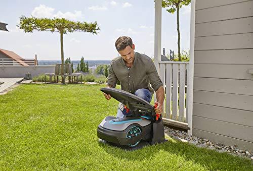 Gardena Garage für Mähroboter: Garage für Rasenmäher, optimaler Sonnen- und Regenschutz für Rasenroboter und Ladestation (15020-20) - 5