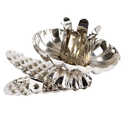 Euullinna Baumkerzenhalter Clip Form für Weihnachtsbaum 10 er Set, Vintage Kerzenteller Adventskranz Metall Kerzenhalter Gold Silber (Silber-LX2, 10)