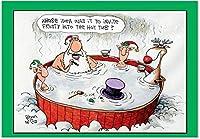 招待FrostyクリスマスFunnyカード 1 Christmas Card & Envelope (SKU:1539)