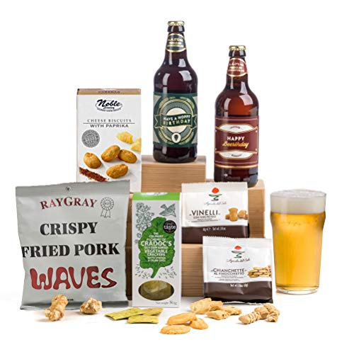 Hoppy Birthday! Beer & Nibbles Hamper Gift for Men