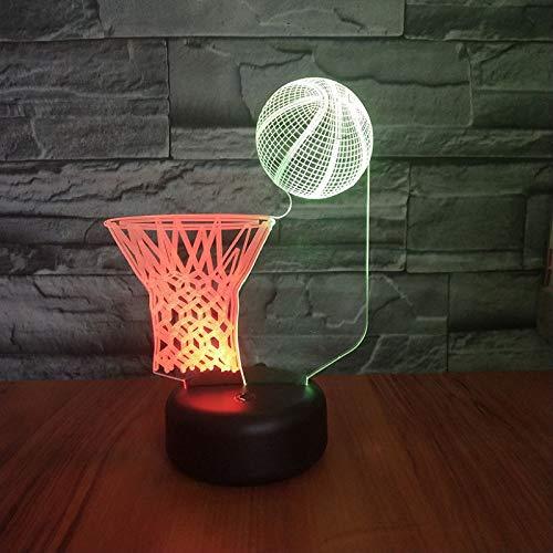 Weihnachtsgeschenk Bunte 3D Nachtlichter Basketball Schießen Stereo Acryl Lichter Led Kreative Schrank Lichter Kinderspielzeug Weihnachtsgeschenke
