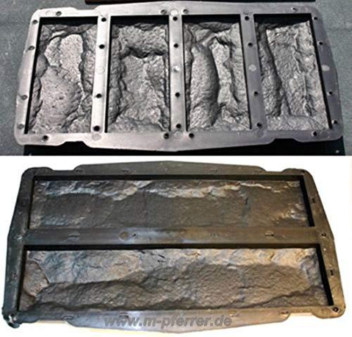Beton-abc Riemchen Set 2 Teilig - Schalungsformen, Gießformen für 6 Klinkersteine