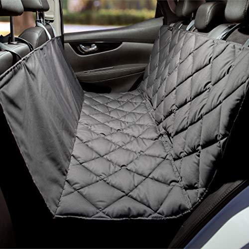 Pointer | Manta para perros para el asiento trasero del coche, resistente asiento trasero, lavable y fácil de limpiar (135 cm de ancho, gris)