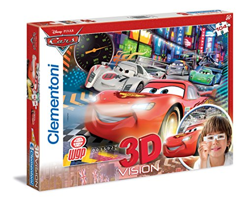 Clementoni 20044.3 - Puzzle Magic 3D - 104 teilig Cars 2 - The Fastest Crew