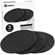 "LINKYO Activated Carbon Compost Bin Filter Refill Pack - Set of 3 Odor Absorbing Charcoal Filters (7.25"" diameter)"