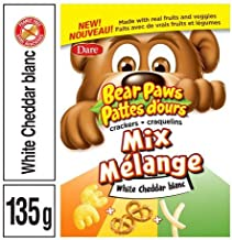 Dare, Bear Paws Crackers Mix, White Cheddar, 135g/4.8oz, Imported from Canada}