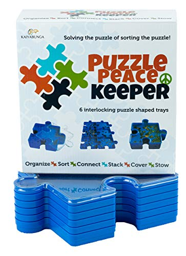 Jigsaw Puzzle Sorting Trays Puzzle Accessories for Puzzle Storage; Puzzle Tray Box Includes 6 Puzzle Trays for Sorting; Puzzle Keeper Jigsaw Organizer so You can Sort and Go. Puzzle Saver