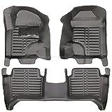 fussmattenprofi.com Tapis de Sol Voiture 3D Premium sur Mesure Adapté pour Ford Ranger Cabine Double Depuis 2015
