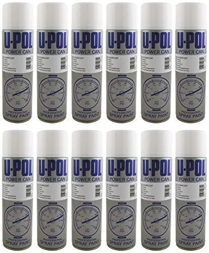 UPol U-Pol 12 x Power Can Clear LACQUER Färg 500 ml Aerosol Powercan Klarlack 12 x 500 ml Aerosolburkar