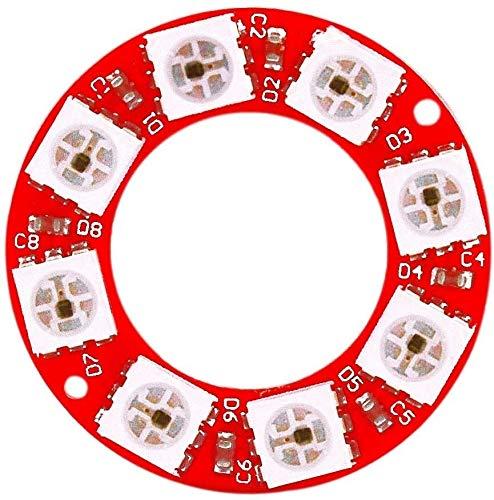 MUKUAI31 WS2812 8bit Full Color RGB Module Circular Board DIY
