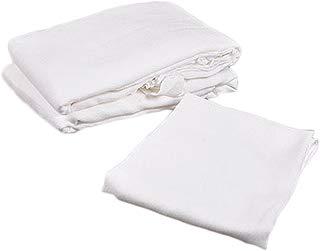 Big Oshi Flat-Folded Cloth Diapers - white, one size