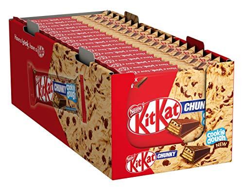 KitKat ChunKy Cookie Dough, Schokoriegel in Milchschokolade, mit knuspriger Waffel und cremiger Schicht im Keksteig-Geschmack, Multi-Pack, 3360 g