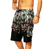 Clothing Beach Shorts Beach Surf Pants Men's Summer Swimming Trunks Large Size Quick-Drying Pants Tracksuit Four-Sided Stretch Pants Casual Shorts Swim (Color : Black, Size : 34)