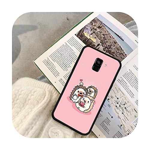 Lindo animal erizo teléfono caso para Galaxy J2 Prime J4 Plus J5 Prime J6 J7 Nota 5 7 8 9 10-a8-para Galaxy J7