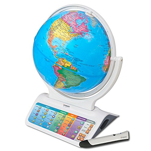 Oregon Scientific SG328 Smart Globe Infinity 2.0 Educational World Geography Kids Learning Toy Bluetooth Pen