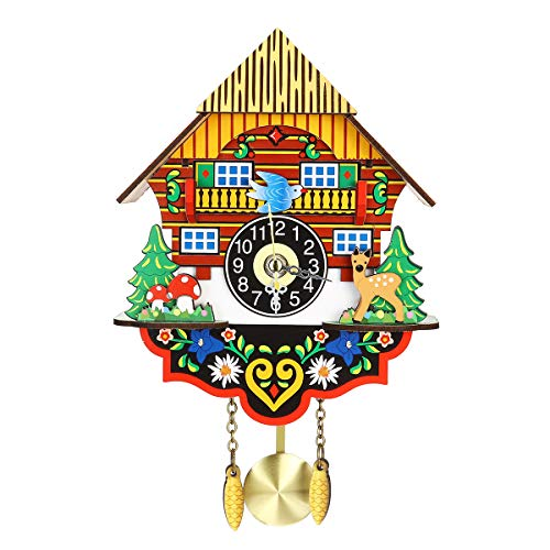 N/A - Reloj de pared con péndulo de cuco, diseño de pájaro y pájaro