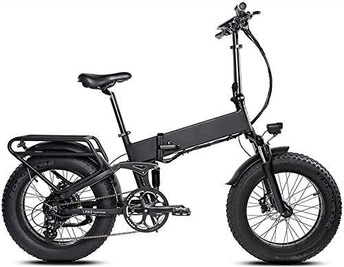 Bici electrica, 20 pulgadas 500w plegable Control de Velocidad de bicicleta eléctrica 48v 11.6ah sin escobillas del motor extraíble batería de litio 8 velocidad de recuperación de energía cinética de