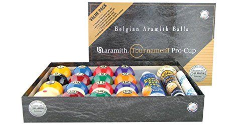 Aramith New Tournament Pro-Cup Value Pack Pool Ball Set - Duramith