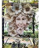 Jarrón De Decoración Del Hogar Diosa Occidental Resina Colgante Florero De Pared Artesanías Maceta De Pared Hogar Al Aire Libre Sonrisa Chica Personaje Hada Jardín Jardineras Ornamento