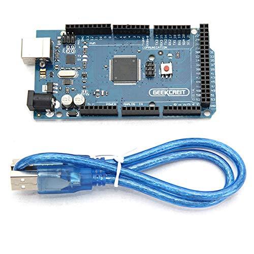 KEMEILIAN Weit verbreitet MEGA 2560 R3 ATMEGA2560 MEGA2560 Development Board mit USB-Kabel für Arduino - Produkte, die mit verschriebenen Arduino-Boards zusammenarbeiten Dauerhaft