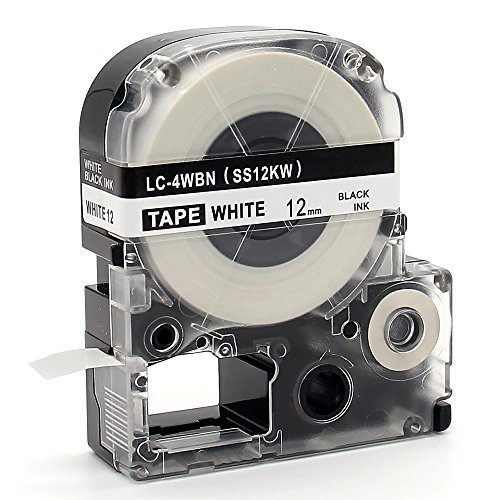 """MARKLIFE Label Tape Compatible Epson Labelworks LC-4WBN9 Epson Label Refills Replacement for LW-300 LW-400 LW-500 LW-600P LW-700, Black on White 1/2"""" W x 26.2ft L 2 Packs Photo #4"""