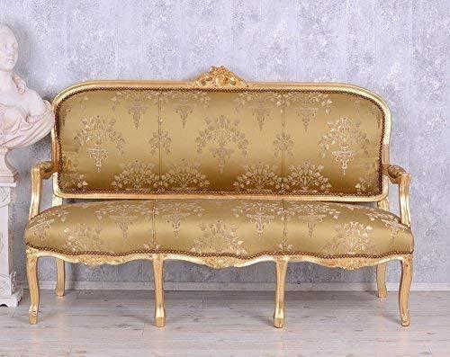 Barock Sofa Salon Sitzbank Barocksofa Antik Stilmöbel Rokoko Gold Palazzo Exclusiv