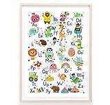 Zaubersüss ABC Poster für Kinder - doppelseitiges
