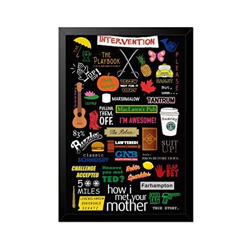 Quadro Poster How I Met Your Mother Referências 33x23cm