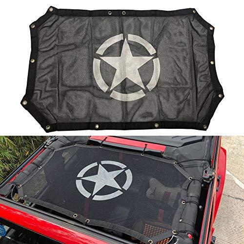 Katurn J-eep Wrangler Bikini 2 Door, UV- Sonnendach Zelt Sonnenschutznetz passend für Jeep Wrangler JK JKU Unlimited (2007-2017)