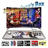 Hcchzr. Pandora's Box 3D&2Dビデオゲームコンソール2プレーヤーマルチプレイヤーホームアーケードコンソール4000ゲームすべてのダブルスティック最新デザインボタンPower HDMI VGA