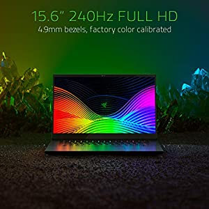 "Razer Blade 15 Gaming Laptop 2019: Intel Core i7-9750H 6 Core, NVIDIA GeForce RTX 2070 Max-Q, 15.6"" FHD 1080p 240Hz, 16GB RAM, 256GB SSD, CNC Aluminum, Chroma RGB Lighting, Thunderbolt 3"