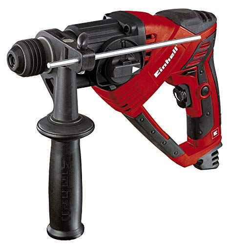 Einhell Martillo perforador RT-RH 20/1 (500 W, 1,6 J, capacidad perforación Ø hormigón 20 mm, SDS-Plus, embrague de deslizam. por sobrec.,tope metálico de profund. perforación, preselección veloc.)