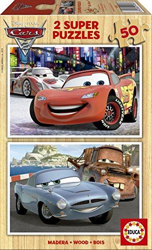 Educa 14936 Cars 2 - Puzzles (2 Unidades, 50 Piezas)