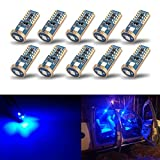 iBrightstar Newest Extremely Bright Wedge T10 168 194 LED Bulbs For Car Interior Dome Map Door Courtesy License Plate Lights, Blue