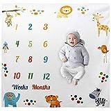 kinnter Baby Monats Decke für Jungen und Mädchen Unisex - monatliche meilenstein Decke Baby,Baby fotodecke,Baby Milestone Fotografie Requisiten,babydecke meilenstein