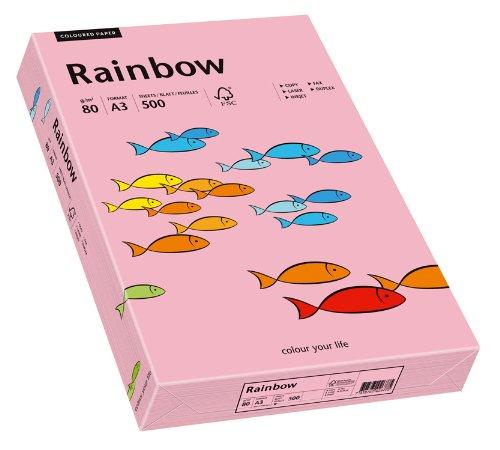 Papyrus 88042544 Drucker-/Kopierpapier farbig: Rainbow 80 g/m² DIN-A3, 500 Blatt Buntpapier, matt, rosa