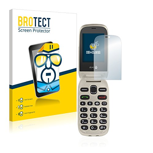 BROTECT Schutzfolie kompatibel mit Doro 6030 (2 Stück) klare Bildschirmschutz-Folie